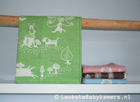 Wiegdeken Little Bear katoen groen Klippan