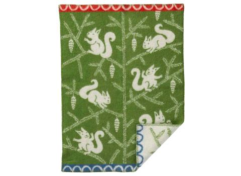 Wiegdeken Squirrel wol groen