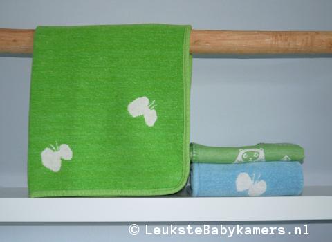 Wiegdeken Vlinders katoen groen Klippan